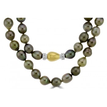 Tahitian Pearl Strand with Diamond set Clasp