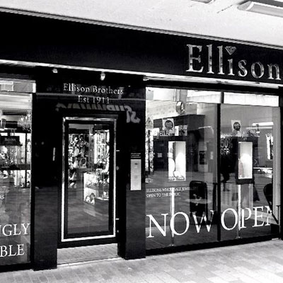 Front view of Ellisons Jewellery Showroom